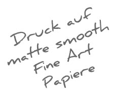 Matt smooth Fine Art Papier